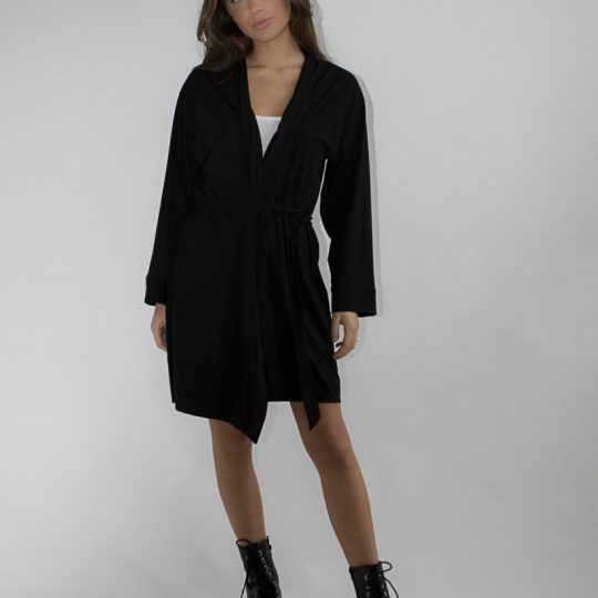 black bamboo jersey fabric