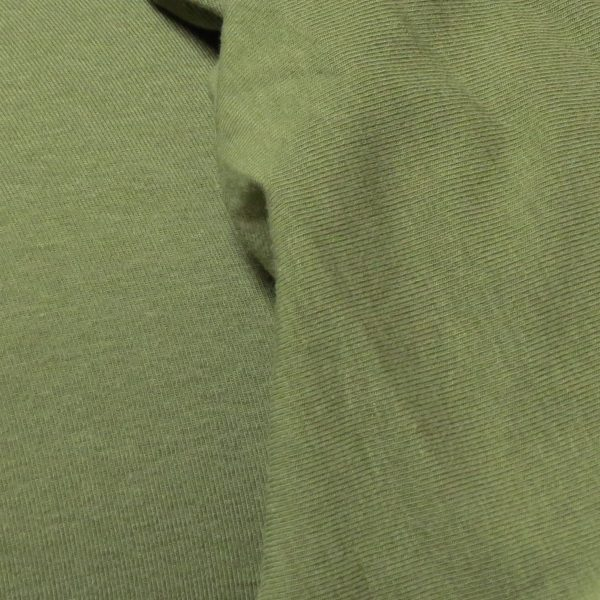 Olive green jersey fabric
