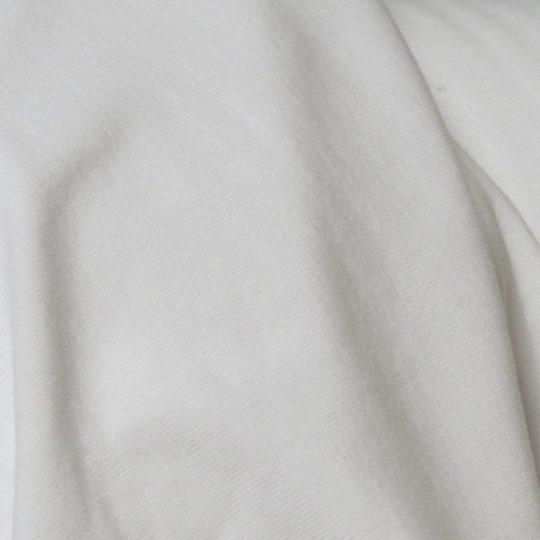 white bamboo jersey fabric